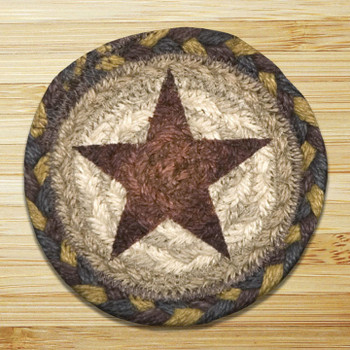 Gold Star Braided Jute Coasters, Set of 8