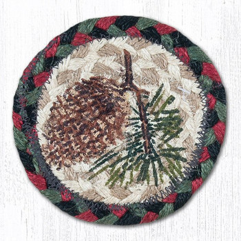Pinecone Braided Jute Coasters by Sandy Clough, Set of 8