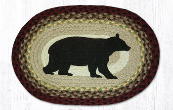 Cabin Bear Braided Jute Oval Placemats by Sandy Clough, Set of 2