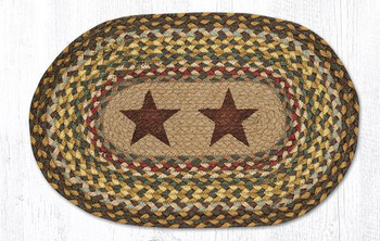 Gold Stars Braided Jute Oval Placemats, Set of 2
