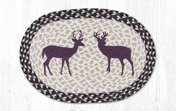Two Bucks Braided Jute Oval Placemats by Sandy Clough, Set of 2