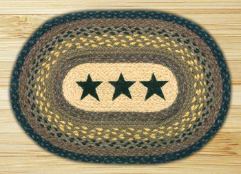 Western Stars Braided Jute Oval Placemat, Set of 2