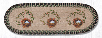 "13"" x 36"" Robins Nest Braided Jute Oval Table Runner by Diane Kwasnik"