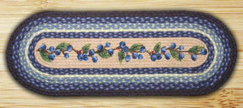 """13"""" x 36"""" Blueberry Vine Braided Jute Oval Table Runner"""