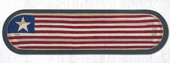 "13"" x 48"" Original Flag Jute Oval Table Runner by Harry W. Smith"