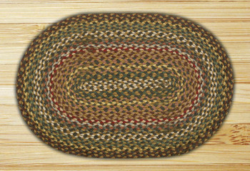 "20"" x 30"" Fir Ivory Braided Jute Oval Rug"