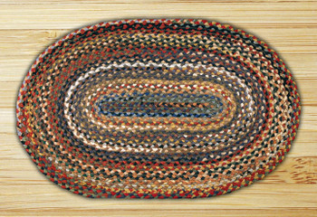 "20"" x 30"" Random Colors Braided Jute Oval Rug"