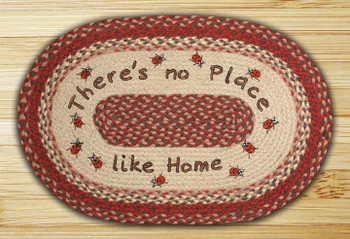 "20"" x 30"" No Place Like Home Braided Jute Oval Rug by Harry W. Smith"