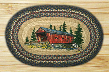 """20"""" x 30"""" Covered Bridge Braided Jute Oval Rug by Harry W. Smith"""