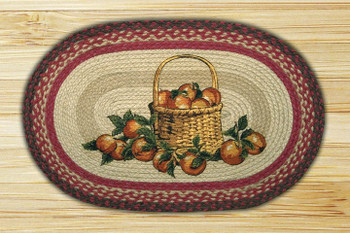 "20"" x 30"" Apple Basket Braided Jute Oval Rug by Harry W Smith"