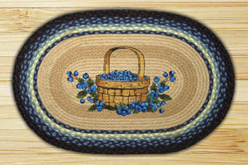 "20"" x 30"" Blueberry Basket Braided Jute Oval Rug by Harry W Smith"