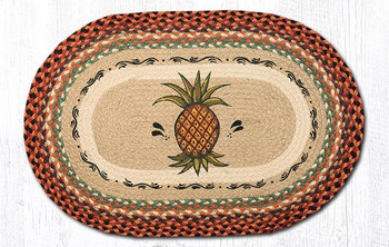 "20"" x 30"" Pineapple Braided Jute Oval Rug by Phyllis Stevens"