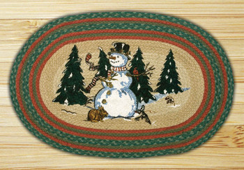 "20"" x 30"" Winter Wonderland Braided Jute Oval Rug by Harry W Smith"
