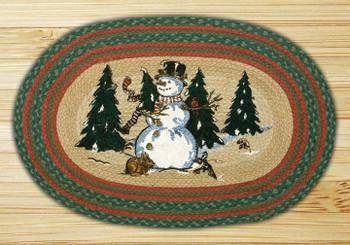 "20"" x 30"" Winter Wonderland Braided Jute Oval Rug by Harry W Smith"