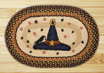 "20"" x 30"" Witch Hat Braided Jute Oval Rug by Susan Burd"