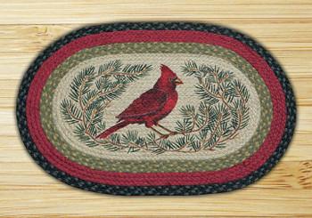 "20"" x 30"" Cardinal Braided Jute Oval Rug by Phyllis Stevens"