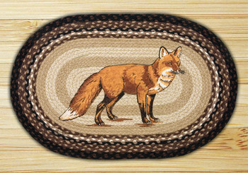 "20"" x 30"" Fox Braided Jute Oval Rug by Harry W. Smith"