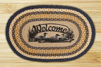 "20"" x 30"" Welcome Loons Braided Jute Oval Rug by R.A. Guthrie"