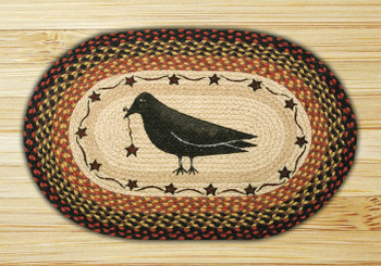 "20"" x 30"" Crow & Star Braided Jute Oval Rug by Susan Burd"