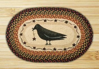 "20"" x 30"" Crow & Star Braided Jute Oval Rug by Susan Burd"