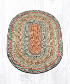 4' x 6' Multi Color Braided Jute Oval Rug