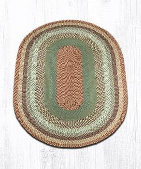 4' x 6' Buttermilk Cranberry Braided Jute Oval Rug