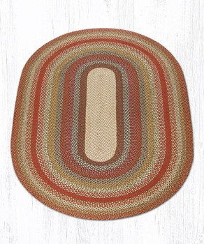 5' x 8' Honey Vanilla Ginger Braided Jute Oval Rug