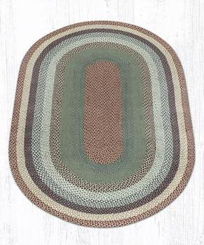 5' x 8' Buttermilk Cranberry Braided Jute Oval Rug