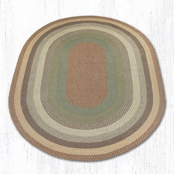 8' x 11' Buttermilk Cranberry Braided Jute Oval Rug