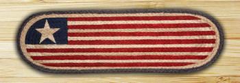 "8.25"" x 27"" Original Flag Braided Jute Oval Stair Tread Rug, Set of 2"