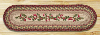 "8.25"" x 27"" Cranberries Braided Jute Oval Stair Tread Rug, Set of 2"