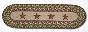 """8.25"""" x 27"""" Gold Stars Braided Jute Oval Stair Tread Rugs, Set of 2"""