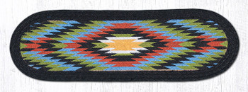 """8.25"""" x 27"""" Native Braided Jute Oval Stair Tread Rugs, Set of 2"""