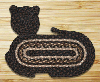 "14.5"" x 19.5"" Cat Shaped Braided Jute Rug, Set of 2 - CT-313"
