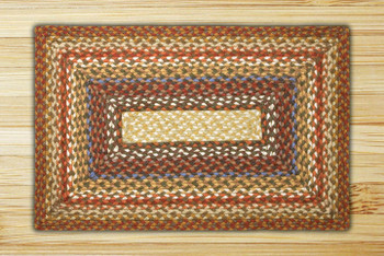 "20"" x 30"" Honey Vanilla Ginger Braided Jute Rectangle Rug"