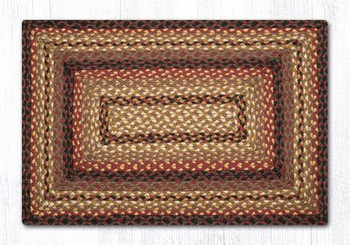 "20"" x 30"" Black Cherry Chocolate Cream Braided Jute Rectangle Rug"