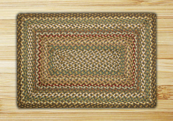"20"" x 30"" Fir Ivory Braided Jute Rectangle Rug"