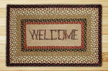 "20"" x 30"" Welcome Braided Jute Rectangle Rug"