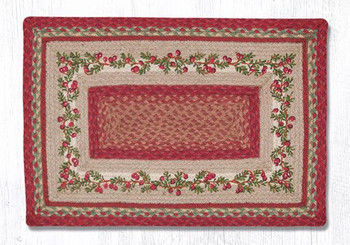 "20"" x 30"" Cranberries Braided Jute Rectangle Rug by Harry W. Smith"