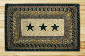 "20"" x 30"" Western Stars Braided Jute Rectangle Rug"
