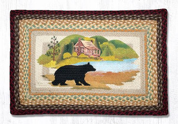 "20"" x 30"" Cabin Bear Braided Jute Rectangle Rug by Sandy Clough"