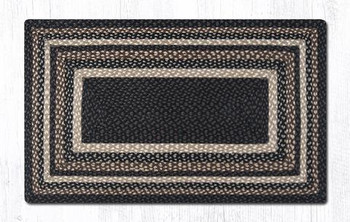"27"" x 45"" Mocha Frappuccino Braided Jute Rectangle Rug"