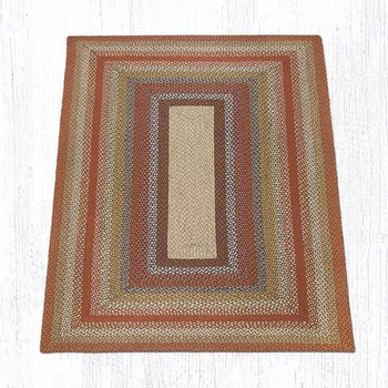 5' x 8' Honey Vanilla Ginger Braided Jute Rectangle Rug