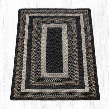 5' x 8' Mocha Frappuccino Braided Jute Rectangle Rug
