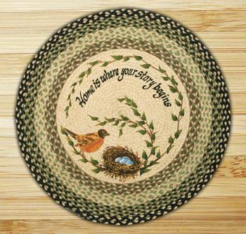 """27"""" Robins Nest Braided Jute Round Rug by Diane Kwasnik"""