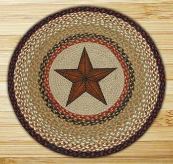 "27"" Barn Star Braided Jute Round Rug by Susan Burd"