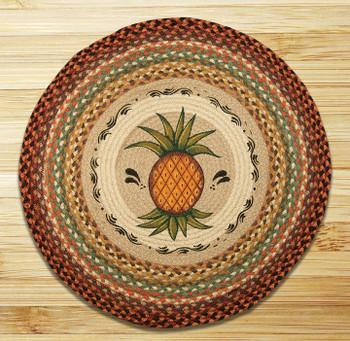 """27"""" Pineapple Braided Jute Round Rug by Susan Burd"""