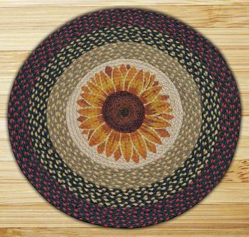 """27"""" Sunflower Braided Jute Round Rug"""