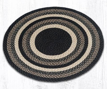 4' Mocha Frappuccino Braided Jute Round Rug