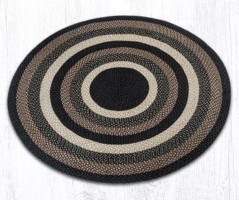 5.75' Mocha Frappuccino Braided Jute Round Rug
